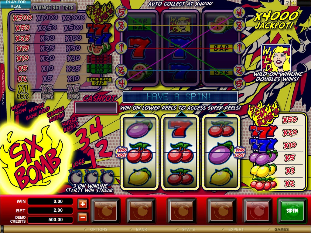 Six Bomb™ Slot Machine Game to Play Free in Microgamings Online Casinos