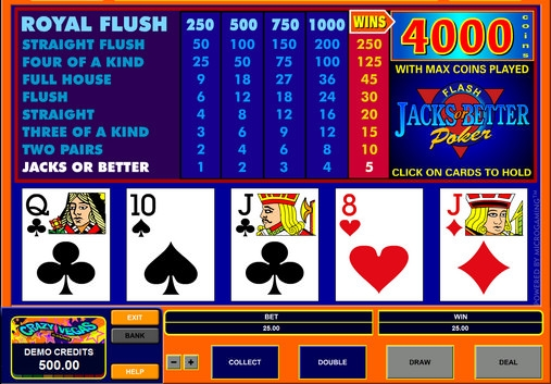 free video 9 //6 jacks or better poker machine