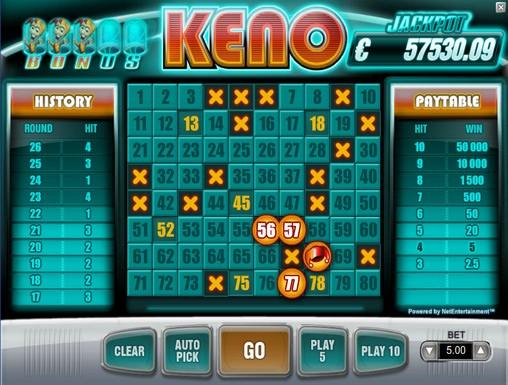 bonus keno free