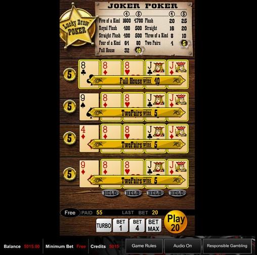 slots play online poker joker