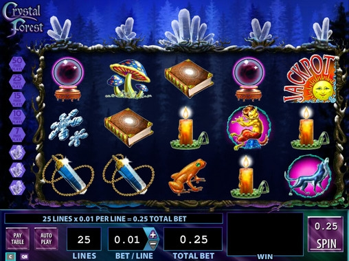 Slot machine crystal forest