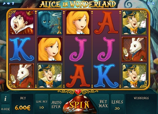 free casino games alice in wonderland