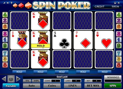 spin poker free slots