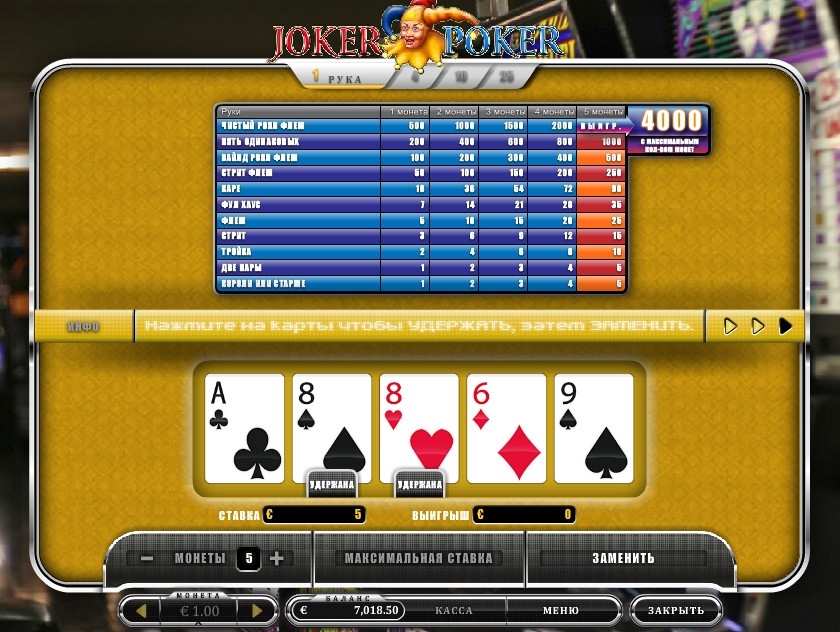 slot online poker joker