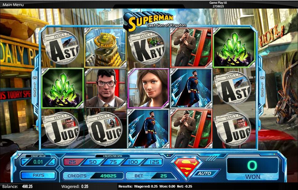 superman last son of krypton slot