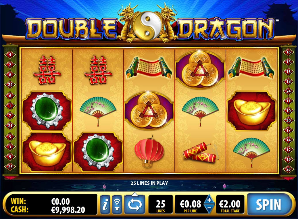 double dragon slot machine reels