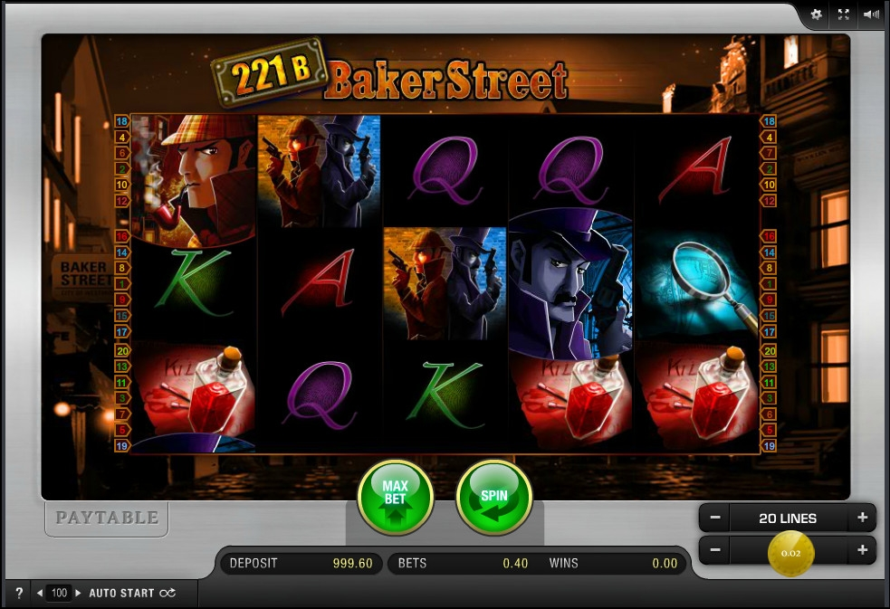 Baker Street Slot Machine - Play the Free Casino Game Online