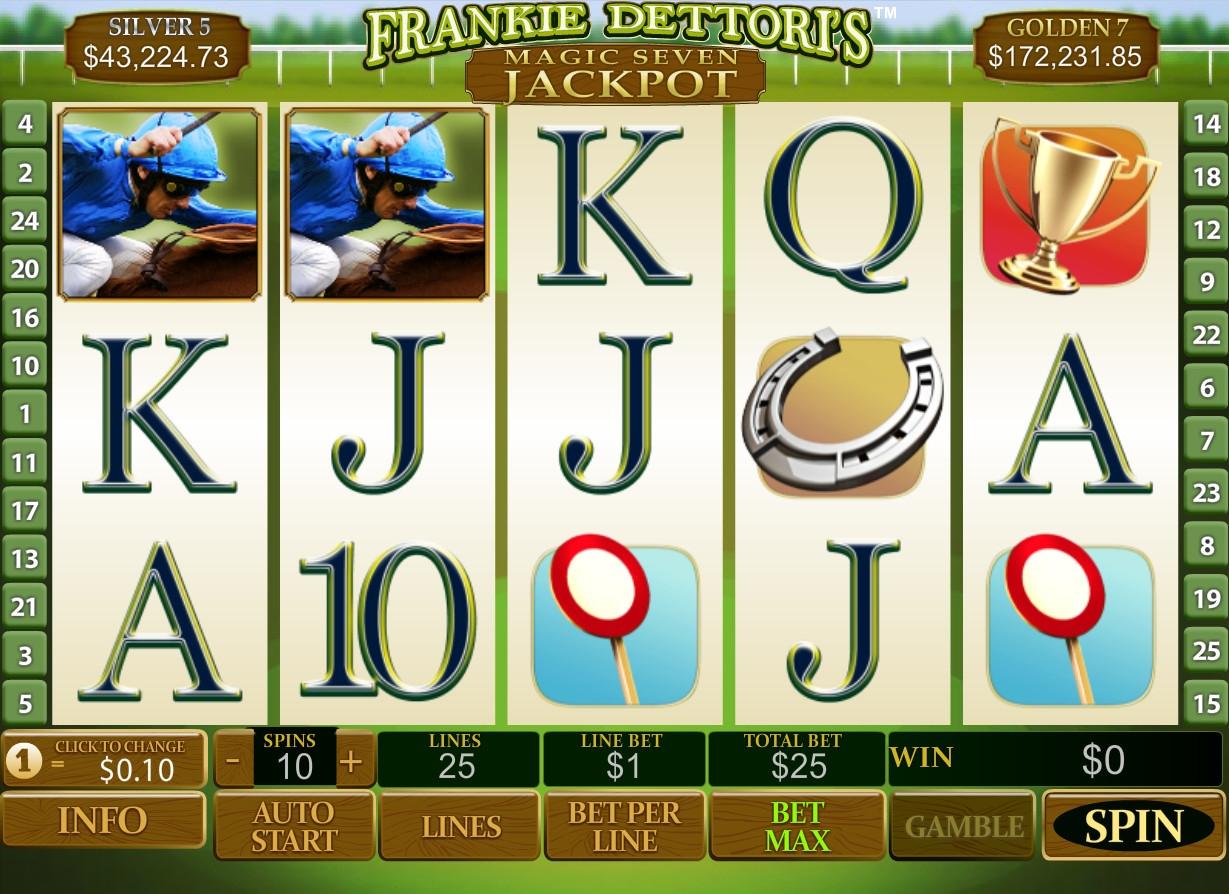 Play Frankie Dettori's Magic Seven Jackpot Slots at Casino.com South Africa