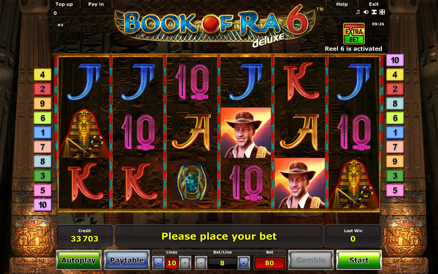casino book of ra online sizzling games