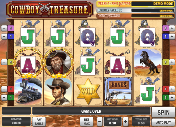 Cowboy Treasure Slots - Free to Play Online Casino Game