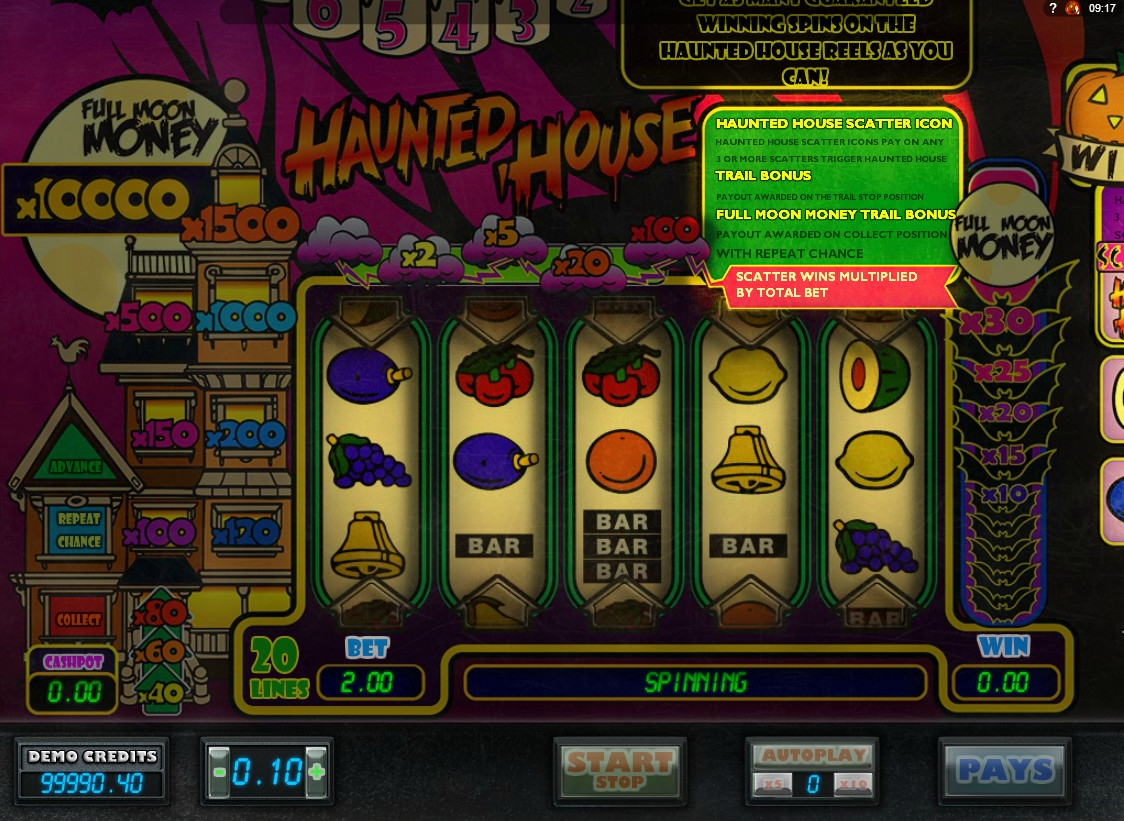 Play Haunted House Slots Online at Casino.com NZ