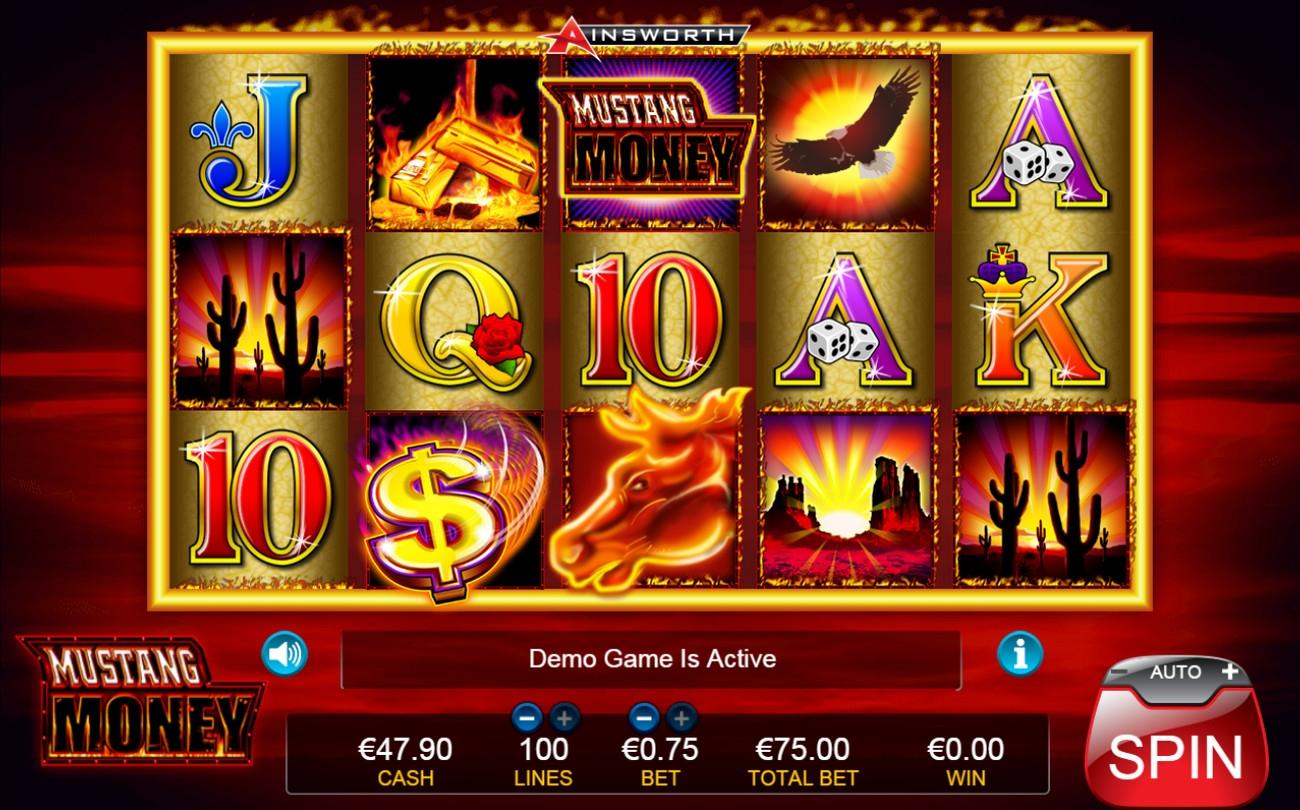 mustang money casino games