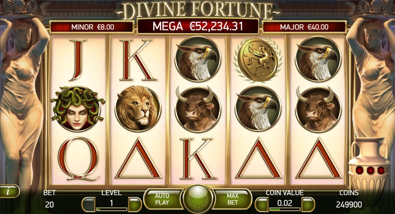 Окунись в игровой автомат Divine Fortune
