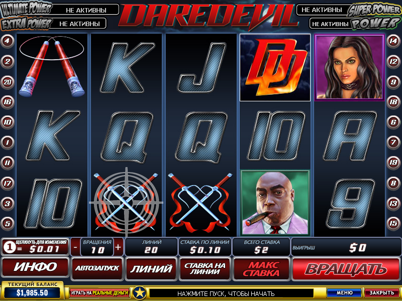 Сорвиголова (Daredevil) - играть бесплатно в игровой