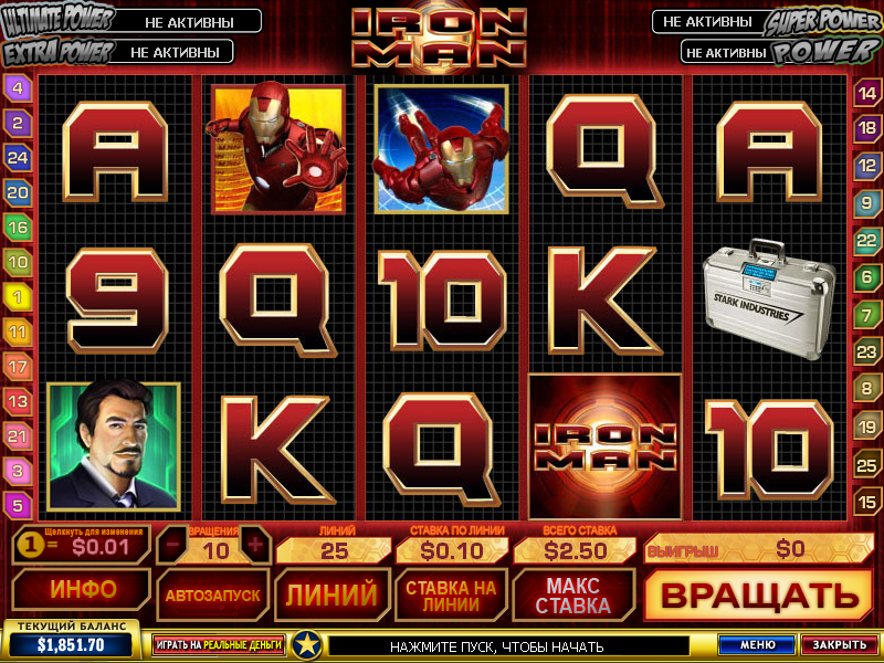 Iron Man slot - gratis Iron Man slotspil download