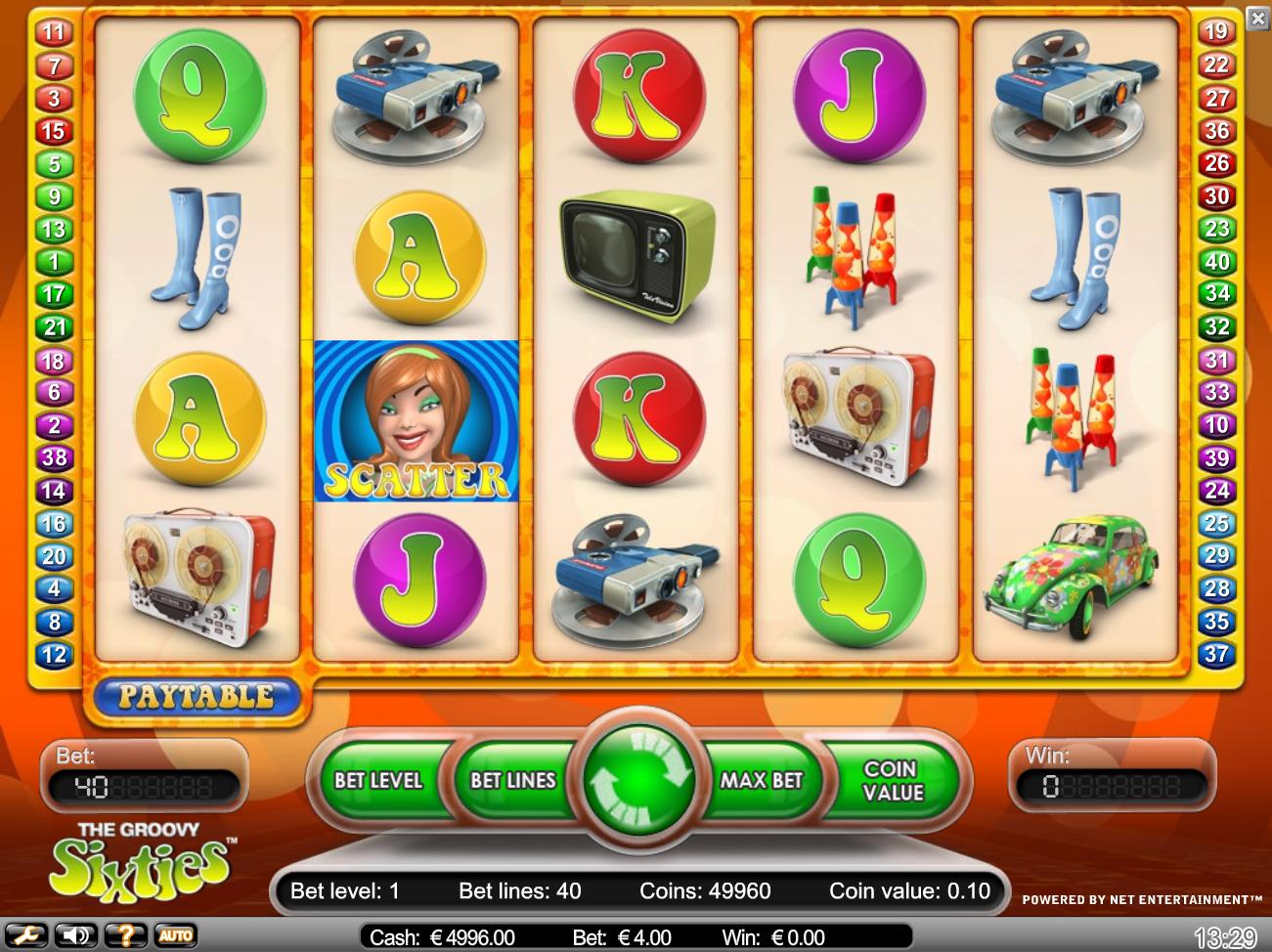 Groovy Sixities slots - spil Groovy Sixities slots gratis online.