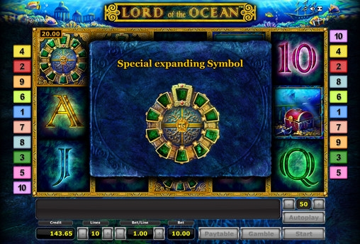 online slots no deposit lord of the ocean