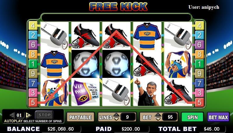 Free kick slot online