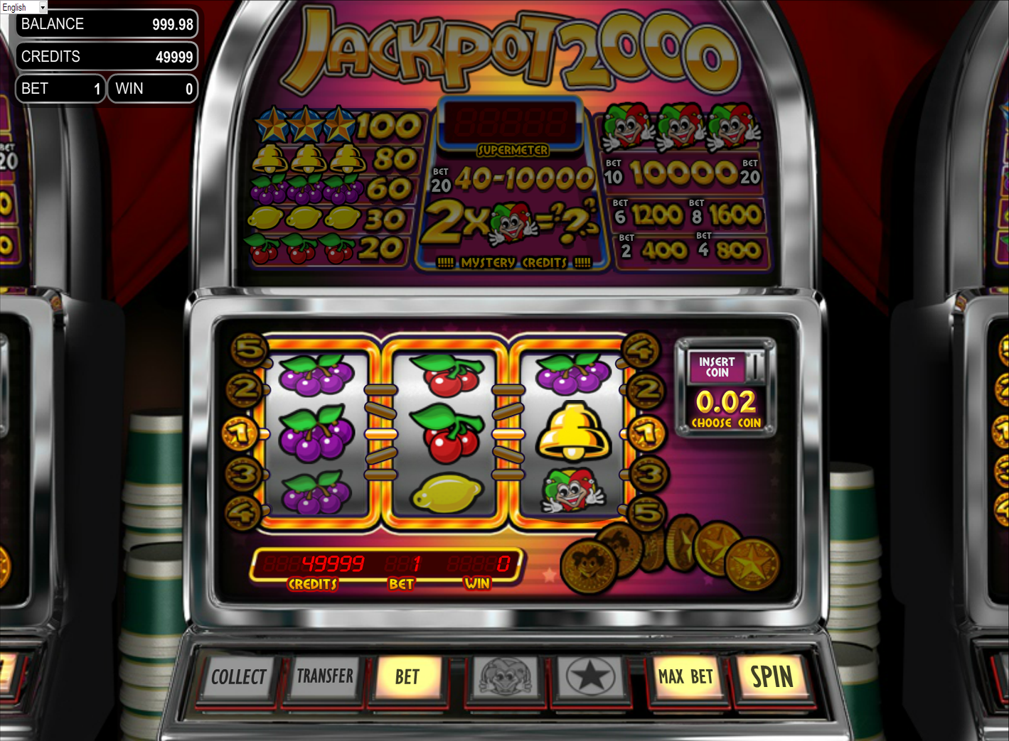 Spectra 2000 Slot Machine - Play for Free With No Download